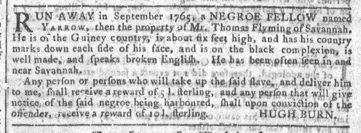Jun 24 - Georgia Gazette Slavery 8