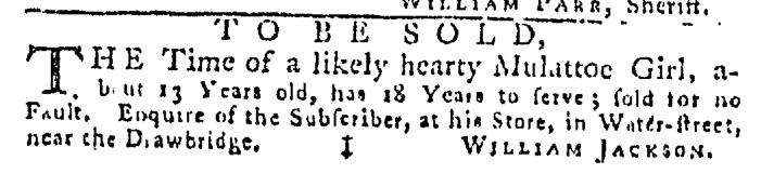 Jun 25 - Pennsylvania Gazette Slavery 1