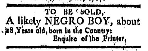Jun 26 - New-London Gazette Slavery 1