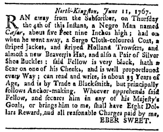 Jun 27 - Providence Gazette Slavery 1