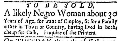 Jun 29 - Boston Evening-Post Slavery 2
