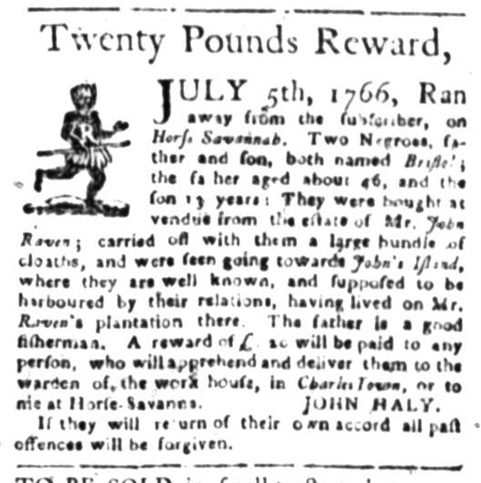Jun 29 - South Carolina Gazette Slavery 1