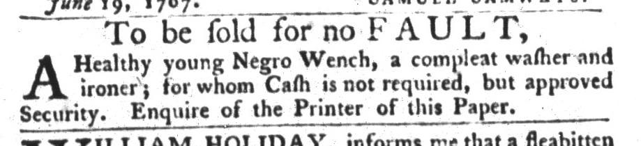Jun 30 - South-Carolina Gazette and Country Journal Slavery 8