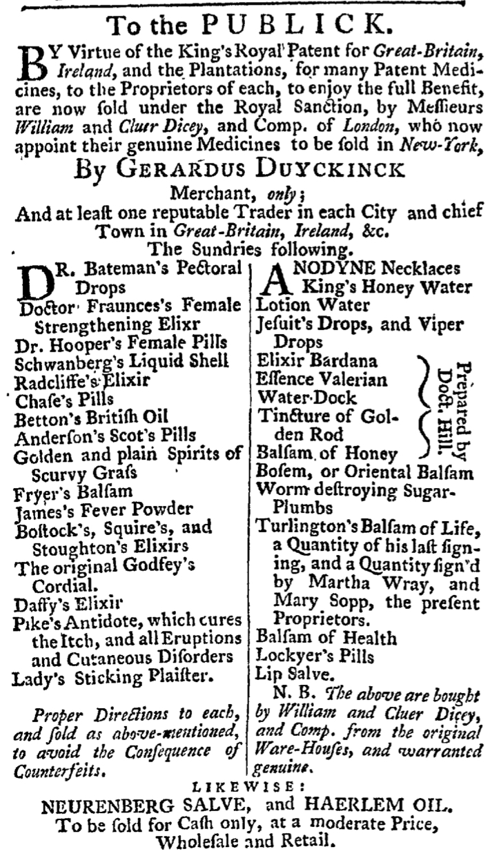 Jun 4 - 6:4:1767 New-York Gazette Weekly Post-Boy