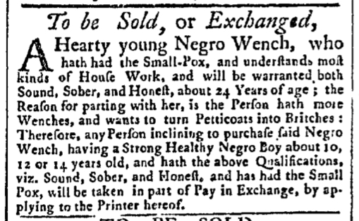 Aug 3 - New-York Gazette Slavery 2