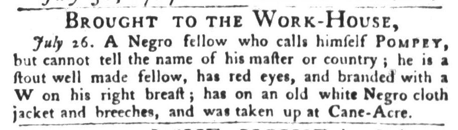 Aug 4 - South-Carolina Gazette and Country Journal Slavery 5