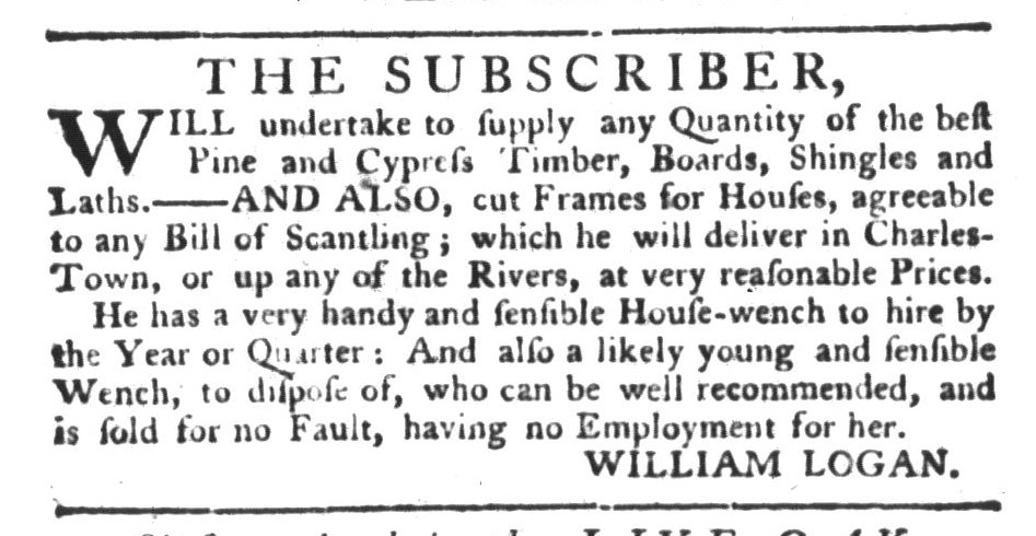 Aug 4 - South-Carolina Gazette and Country Journal Supplement Slavery 1