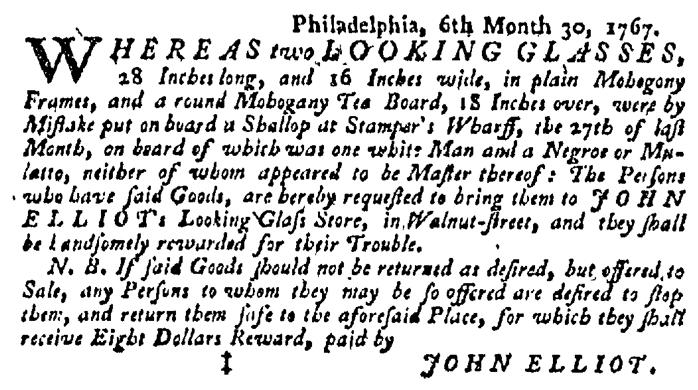 Jul 16 - Pennsylvania Gazette Supplement Slavery 4
