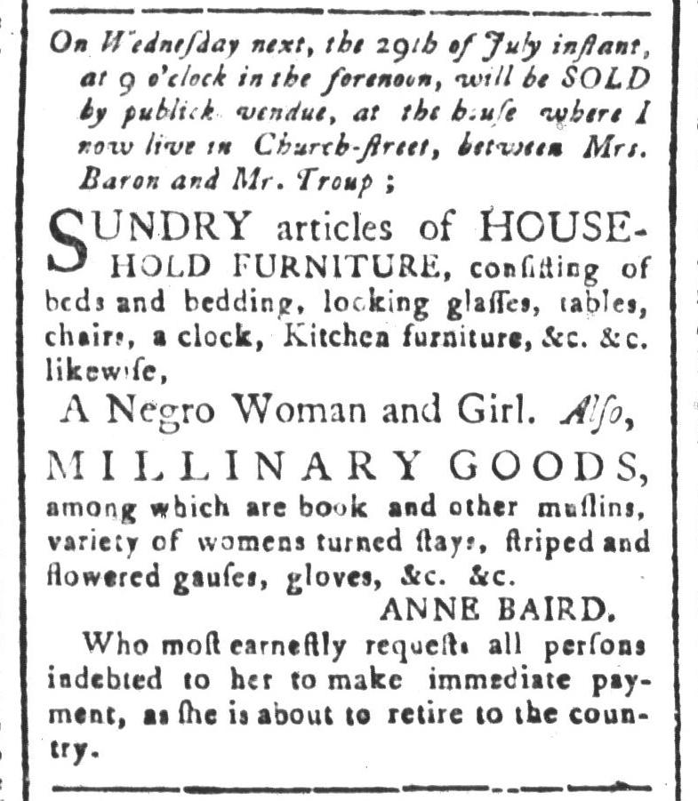Jul 24 - South-Carolina and American General Gazette Slavery 1