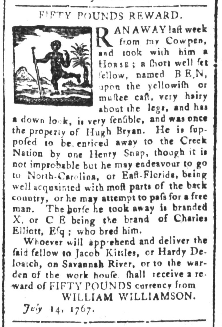 Jul 24 - South-Carolina and American General Gazette Slavery 6