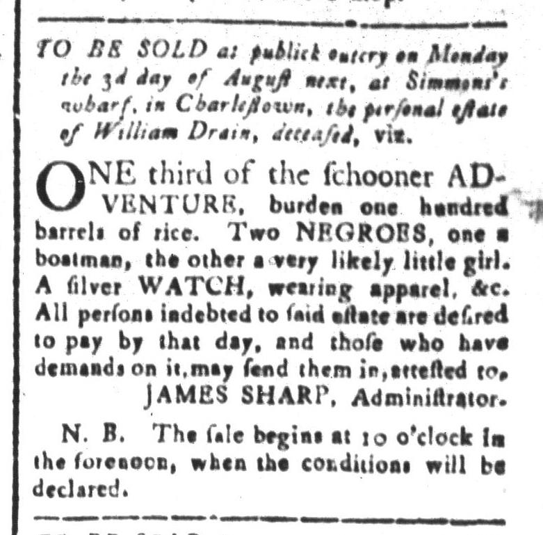 Jul 24 - South-Carolina and American General Gazette Slavery 7