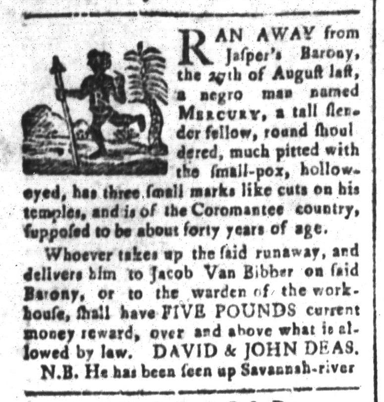 Jul 24 - South-Carolina and American General Gazette Slavery 8