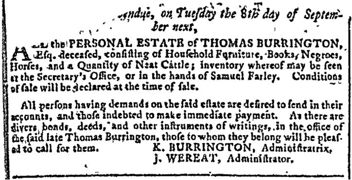 Jul 29 - Georgia Gazette Slavery 1