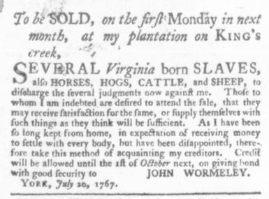 Jul 30 - Virginia Gazette Slavery 5
