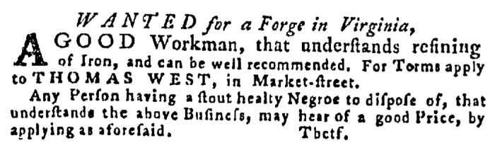 Aug 13 - Pennsylvania Gazette Supplement Slavery 2
