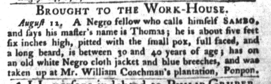Aug 18 - South-Carolina Gazette and Country Journal Slavery 3