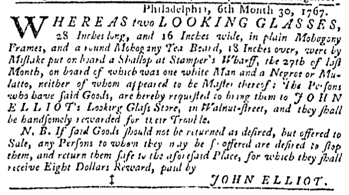 Aug 20 - Pennsylvania Gazette Slavery 3
