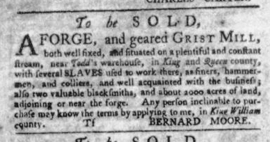 Aug 20 - Virginia Gazette Slavery 9