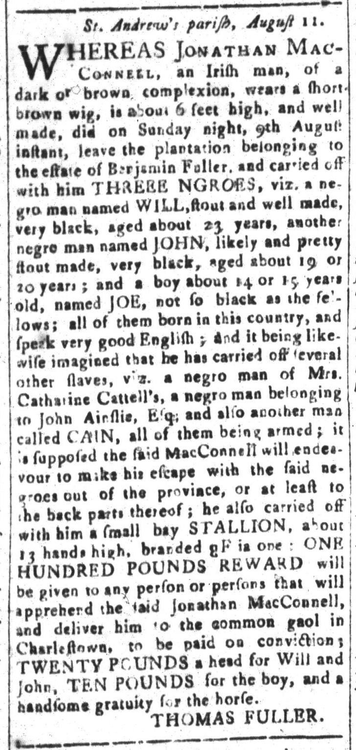 Aug 21 - South-Carolina and American General Gazette Slavery 9