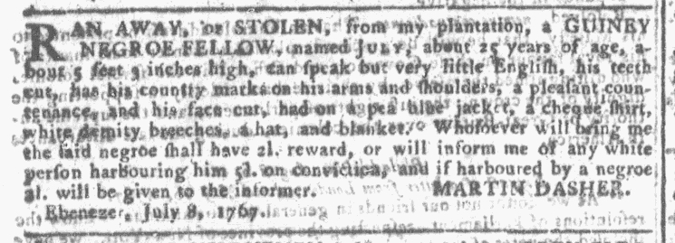 Aug 26 - Georgia Gazette Slavery 2