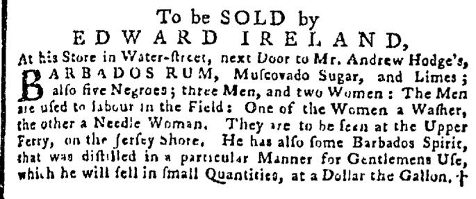 Aug 27 - Pennsylvania Gazette Supplement Slavery 1