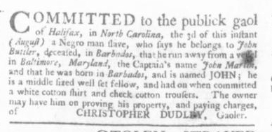 Aug 27 - Virginia Gazette Slavery 1