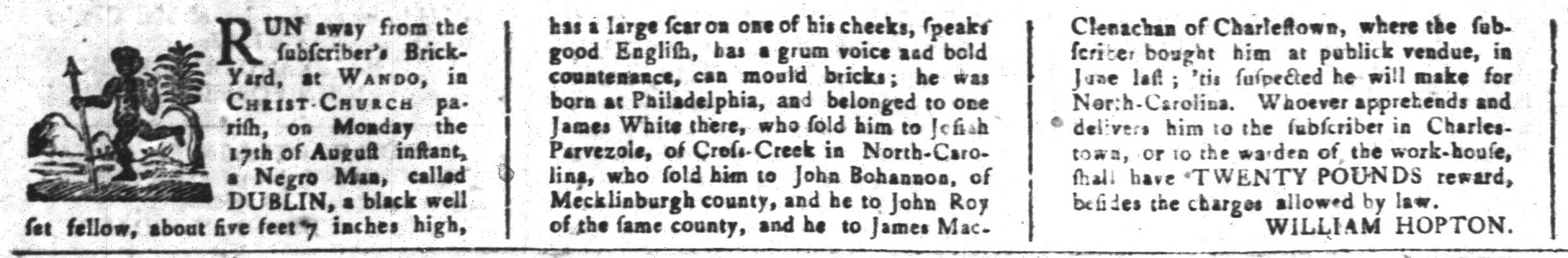Aug 28 - South-Carolina and American General Gazette Slavery 5