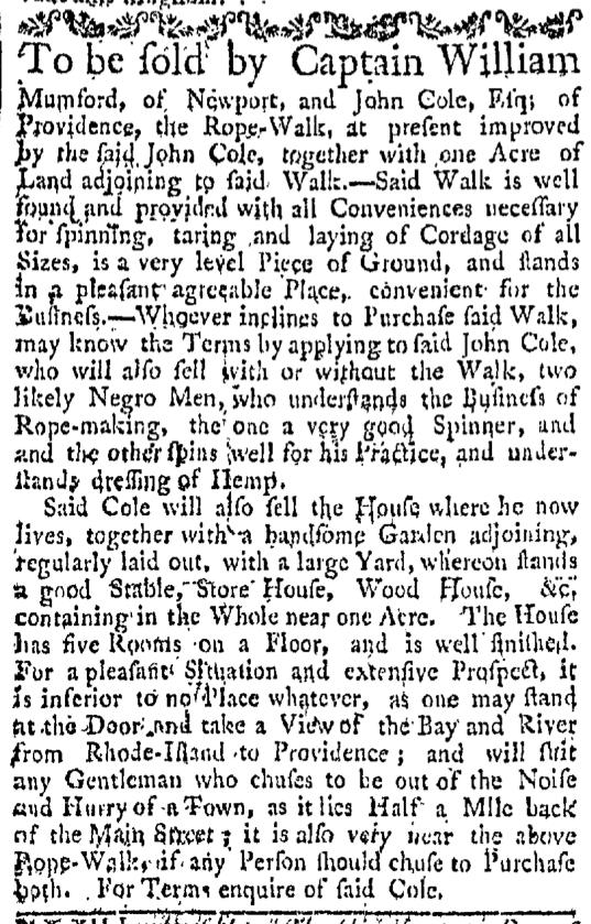 Aug 29 - Providence Gazette Slavery 3