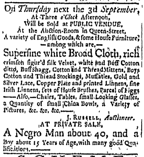 Aug 31 - Boston Evening-Post Slavery 1