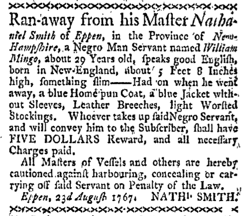 Aug 31 - Boston-Gazette Slavery 1