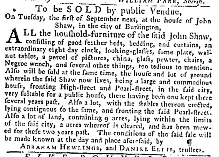 Aug 6 - Pennsylvania Gazette Slavery 2
