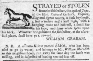 Aug 6 - Virginia Gazette Slavery 4