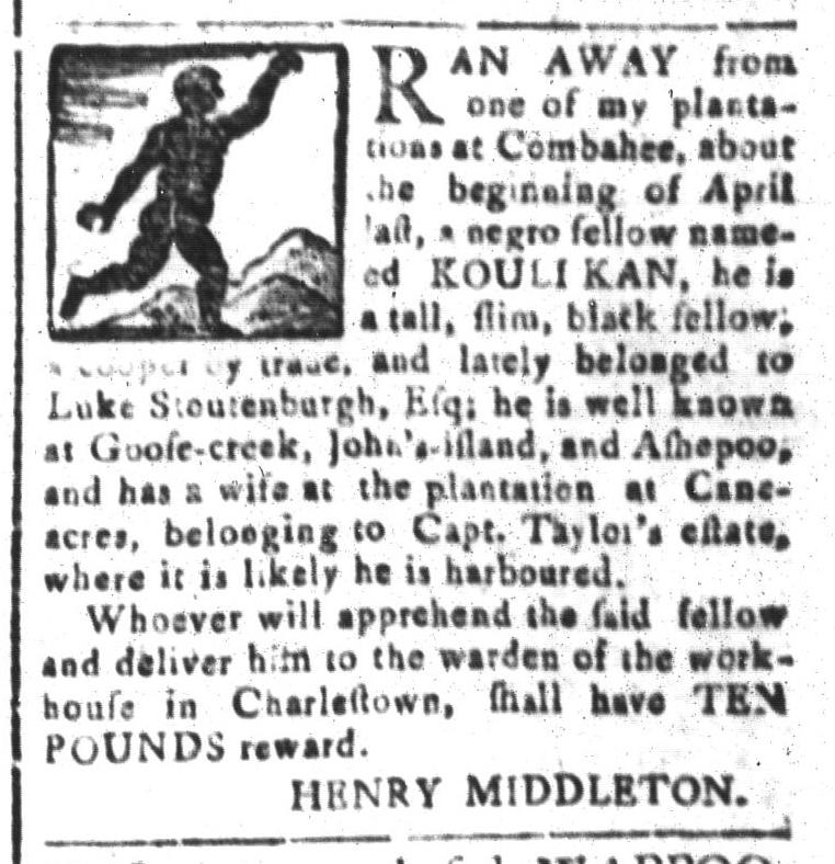 Aug 7 - South-Carolina and American General Gazette Slavery 10