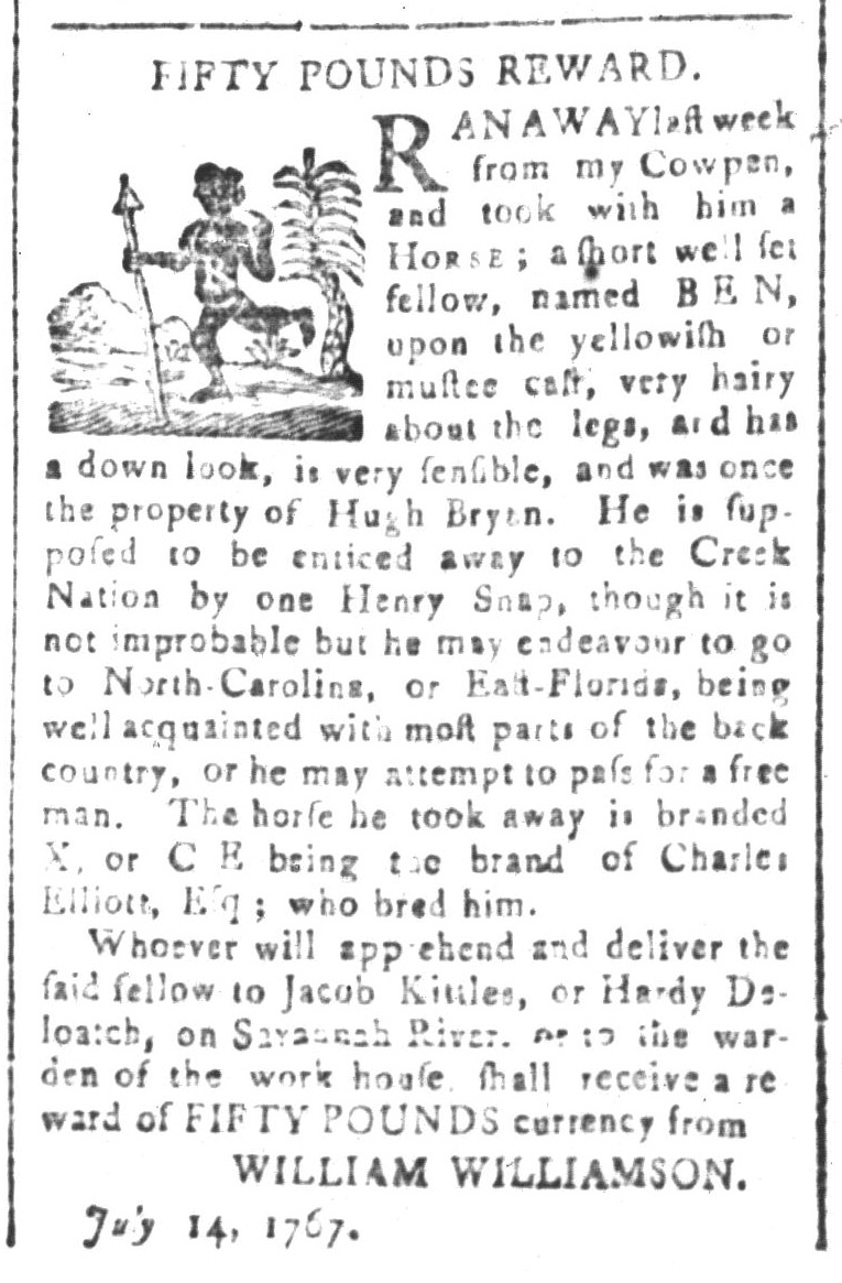 Aug 7 - South-Carolina and American General Gazette Slavery 4