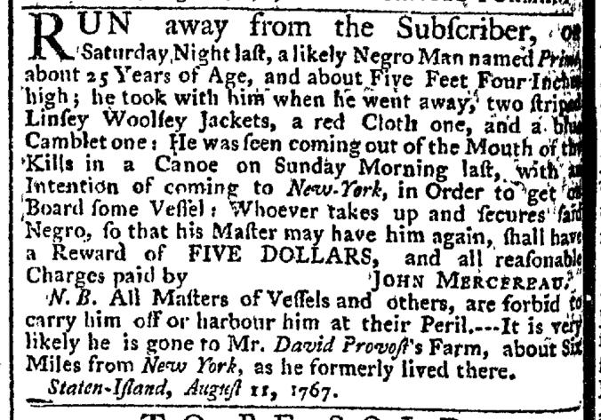 Sep 10 - New-York Gazette Weekly Post-Boy Slavery 1