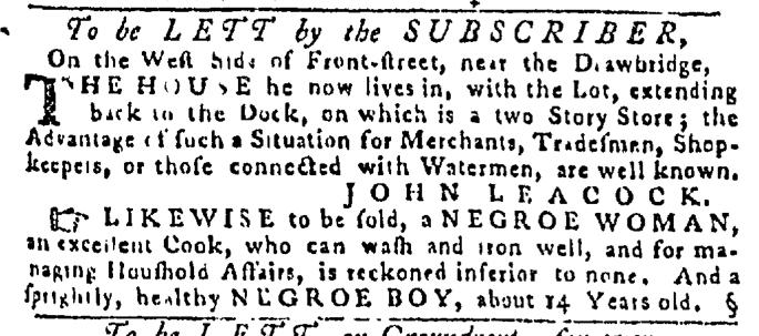 Sep 10 - Pennsylvania Gazette Slavery 1