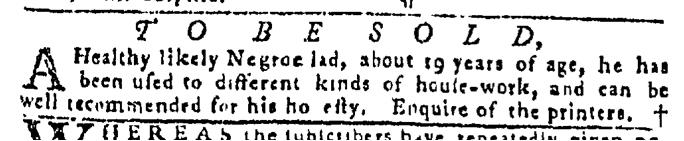 Sep 10 - Pennsylvania Gazette Slavery 2