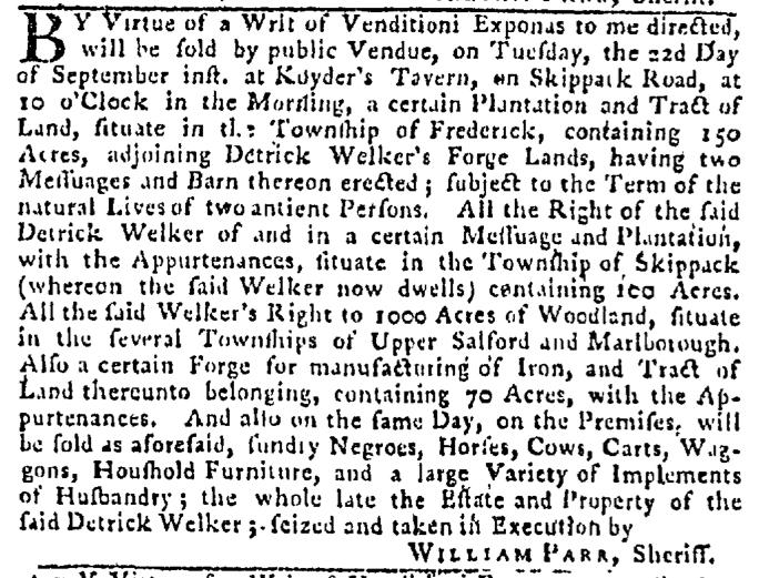 Sep 10 - Pennsylvania Gazette Slavery 4