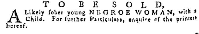 Sep 10 - Pennsylvania Gazette Supplement Slavery 1