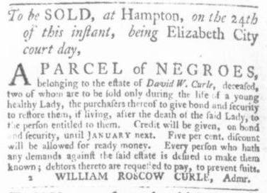 Sep 10 - Virginia Gazette Slavery 1