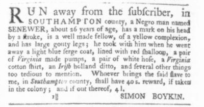 Sep 10 - Virginia Gazette Slavery 2