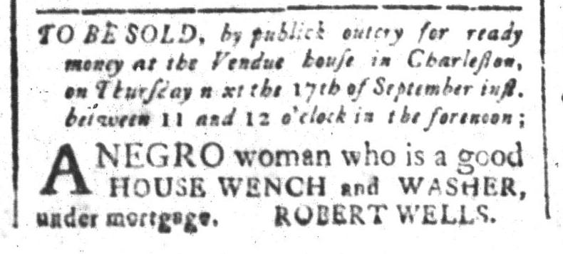Sep 11 - South-Carolina and American General Gazette Slavery 1
