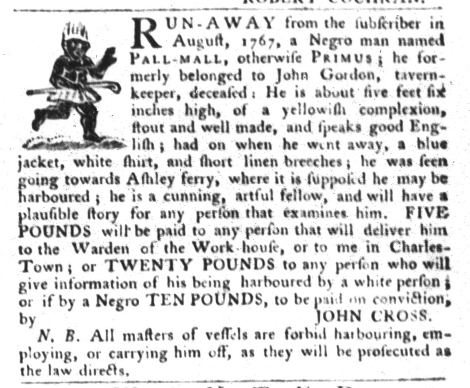 Sep 15 - South-Carolina Gazette and Country Journal Slavery 2
