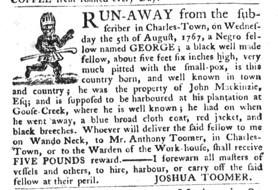 Sep 15 - South-Carolina Gazette and Country Journal Slavery 7