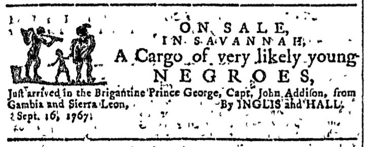 Sep 16 - Georgia Gazette Slavery 1