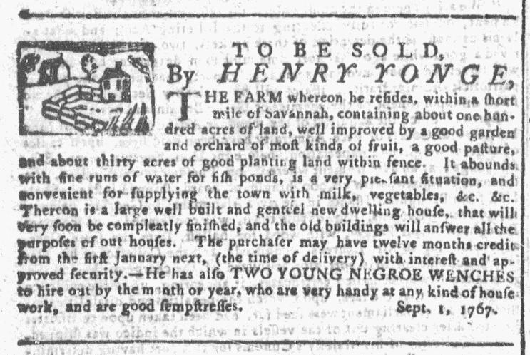 Sep 16 - Georgia Gazette Slavery 4