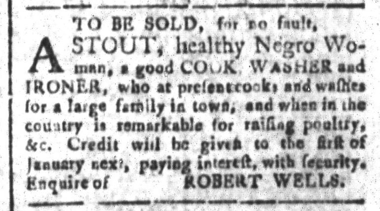 Sep 18 - South-Carolina and American General Gazette Slavery 1