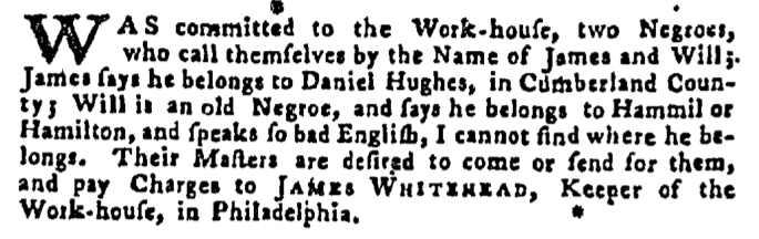Sep 24 - Pennsylvania Gazette Supplement Slavery 3