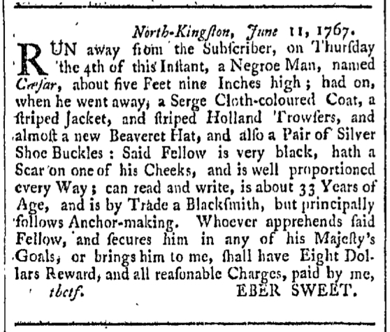 Sep 26 - Providence Gazette Slavery 2