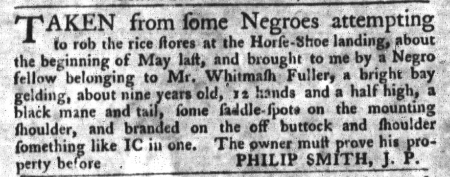 Sep 29 - South-Carolina Gazette and Country Journal Slavery 6
